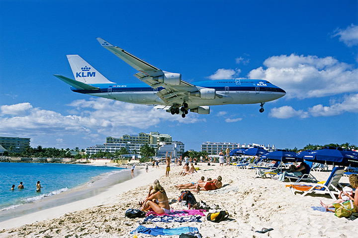 Princess Juliana International Airport in Saint Martin