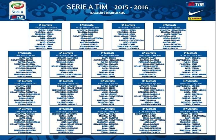 Udinese Calcio Calendario.Calcio Presentato Il Calendario Serie A Openmag