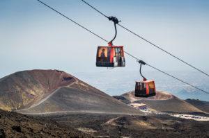 Etna volcano funicular