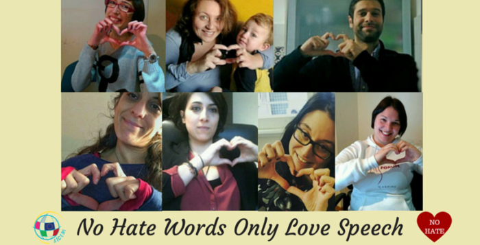 crowdfunding No Hate Words Only Love Speech