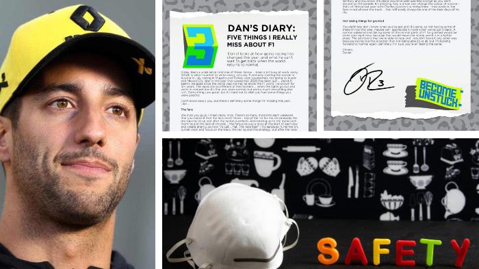 Lettera di Ricciardo sul coronavirus. Com'è cambiato lo sport?